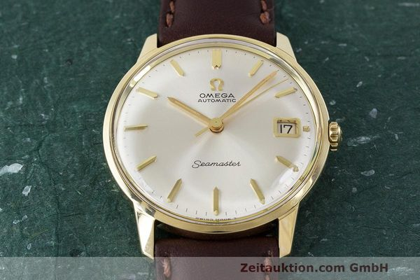 Used luxury watch Omega Seamaster 14 ct yellow gold automatic Kal. 562 Ref. 166.001 VINTAGE  | 162223 14