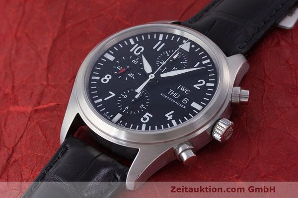 Used luxury watch IWC Fliegeruhr chronograph steel automatic Kal. 79320 Ref. 371704  | 162230 01