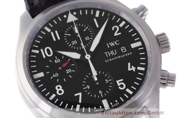 Used luxury watch IWC Fliegeruhr chronograph steel automatic Kal. 79320 Ref. 371704  | 162230 02