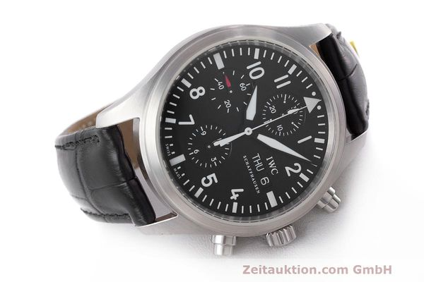 Used luxury watch IWC Fliegeruhr chronograph steel automatic Kal. 79320 Ref. 371704  | 162230 03