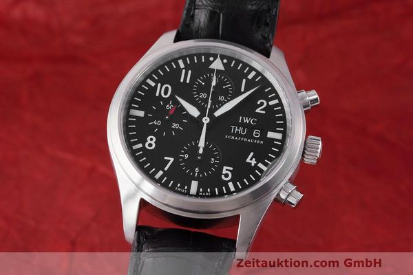 Used luxury watch IWC Fliegeruhr chronograph steel automatic Kal. 79320 Ref. 371704  | 162230 04