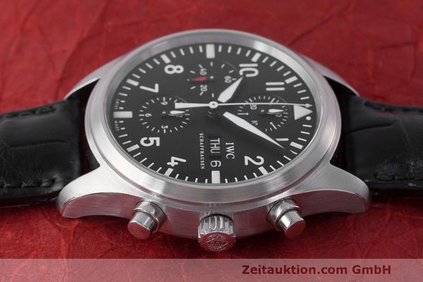 Used luxury watch IWC Fliegeruhr chronograph steel automatic Kal. 79320 Ref. 371704  | 162230 05