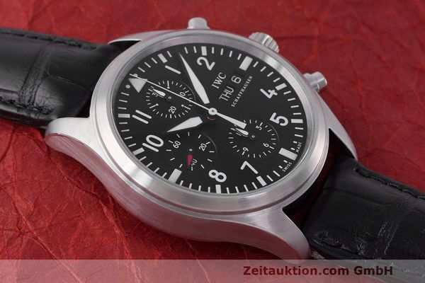 Used luxury watch IWC Fliegeruhr chronograph steel automatic Kal. 79320 Ref. 371704  | 162230 17