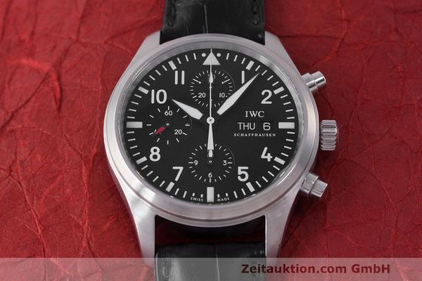Used luxury watch IWC Fliegeruhr chronograph steel automatic Kal. 79320 Ref. 371704  | 162230 18
