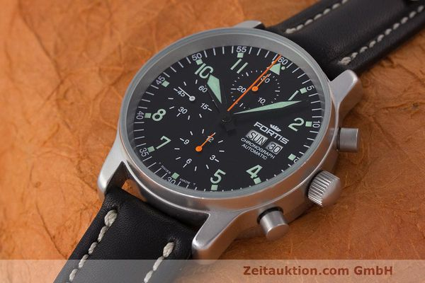 Used luxury watch Fortis Flieger Chronograph chronograph steel automatic Kal. ETA 7750 Ref. 597.10.141  | 162238 01