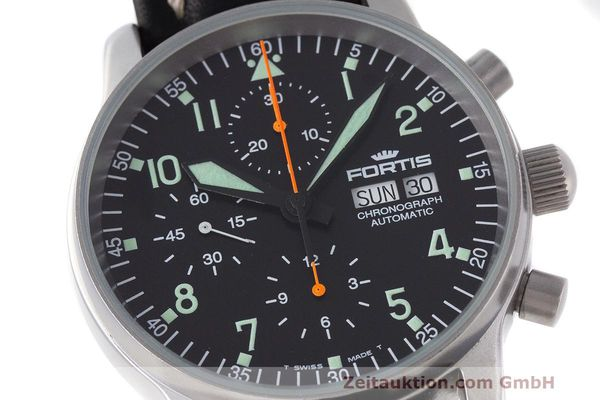 Used luxury watch Fortis Flieger Chronograph chronograph steel automatic Kal. ETA 7750 Ref. 597.10.141  | 162238 02