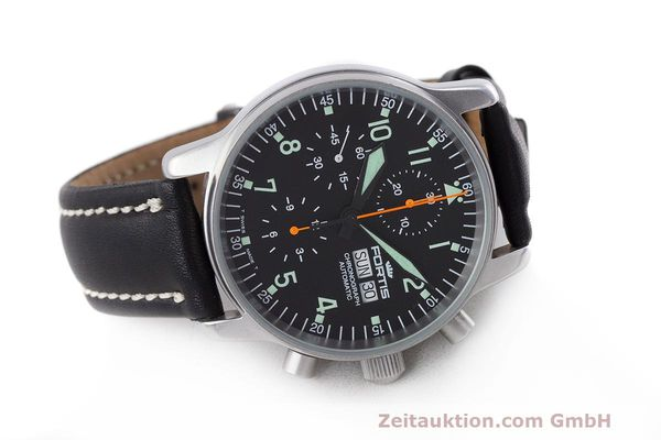 Used luxury watch Fortis Flieger Chronograph chronograph steel automatic Kal. ETA 7750 Ref. 597.10.141  | 162238 03