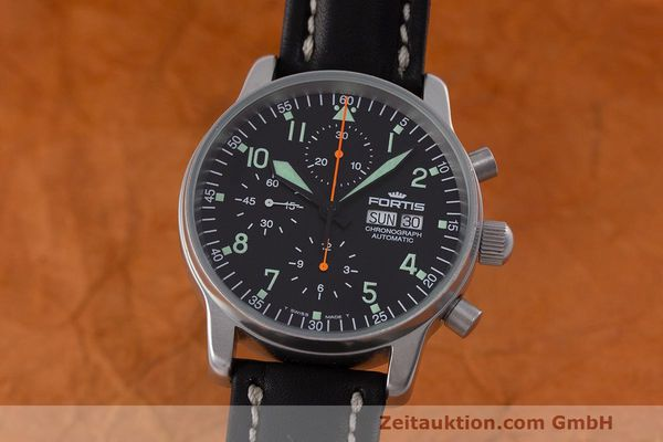 Used luxury watch Fortis Flieger Chronograph chronograph steel automatic Kal. ETA 7750 Ref. 597.10.141  | 162238 04