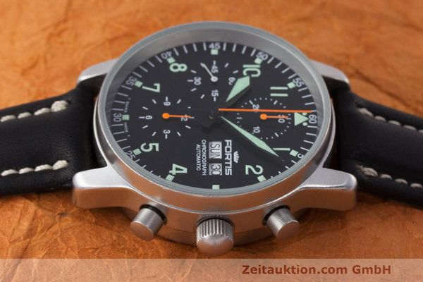 Used luxury watch Fortis Flieger Chronograph chronograph steel automatic Kal. ETA 7750 Ref. 597.10.141  | 162238 05