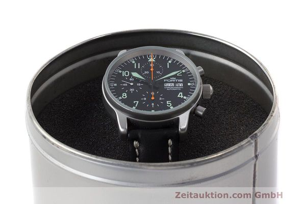 Used luxury watch Fortis Flieger Chronograph chronograph steel automatic Kal. ETA 7750 Ref. 597.10.141  | 162238 07