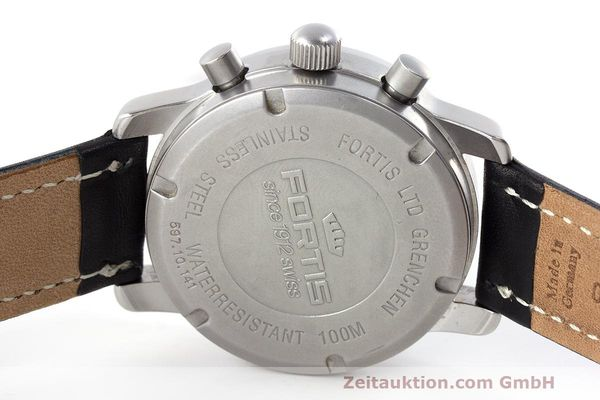 Used luxury watch Fortis Flieger Chronograph chronograph steel automatic Kal. ETA 7750 Ref. 597.10.141  | 162238 09