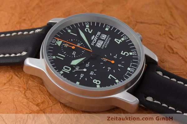 Used luxury watch Fortis Flieger Chronograph chronograph steel automatic Kal. ETA 7750 Ref. 597.10.141  | 162238 14