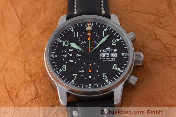Used luxury watch Fortis Flieger Chronograph chronograph steel automatic Kal. ETA 7750 Ref. 597.10.141  | 162238 15