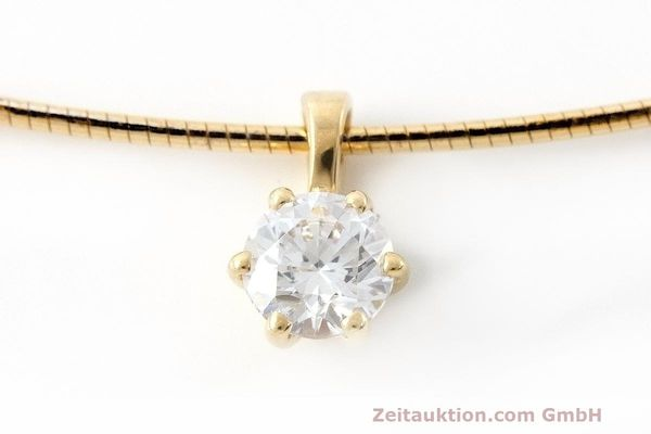 ANHÄNGER 18K (0,750) GOLD 1 DIAMANT 0,40 CT DAMENKETTE DIAMOND WERT: 2983,- EURO [162246]