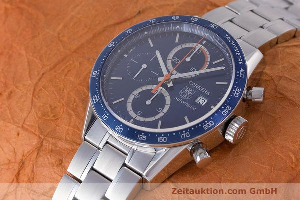 Used luxury watch Tag Heuer Carrera chronograph steel automatic Kal. 16 ETA 7750 Ref. CV2015-3  | 162250 01