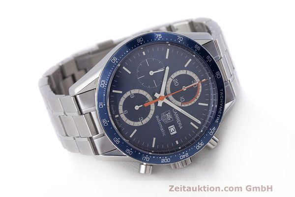 Used luxury watch Tag Heuer Carrera chronograph steel automatic Kal. 16 ETA 7750 Ref. CV2015-3  | 162250 03