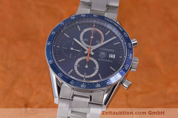 Used luxury watch Tag Heuer Carrera chronograph steel automatic Kal. 16 ETA 7750 Ref. CV2015-3  | 162250 04