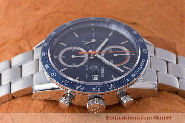 Used luxury watch Tag Heuer Carrera chronograph steel automatic Kal. 16 ETA 7750 Ref. CV2015-3  | 162250 05