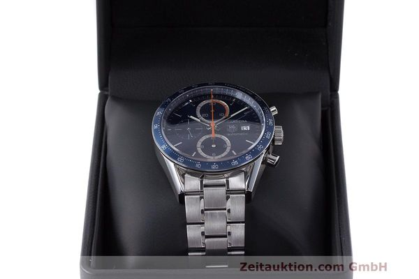 Used luxury watch Tag Heuer Carrera chronograph steel automatic Kal. 16 ETA 7750 Ref. CV2015-3  | 162250 07