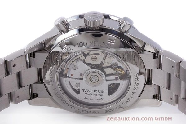 Used luxury watch Tag Heuer Carrera chronograph steel automatic Kal. 16 ETA 7750 Ref. CV2015-3  | 162250 09