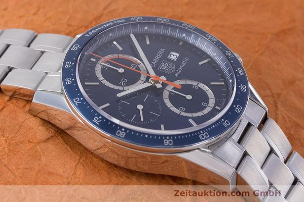 Used luxury watch Tag Heuer Carrera chronograph steel automatic Kal. 16 ETA 7750 Ref. CV2015-3  | 162250 13