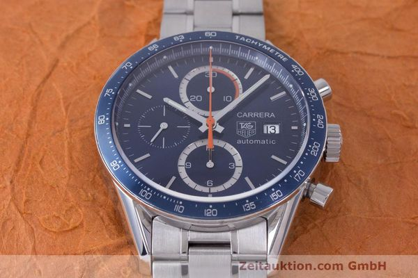 Used luxury watch Tag Heuer Carrera chronograph steel automatic Kal. 16 ETA 7750 Ref. CV2015-3  | 162250 14