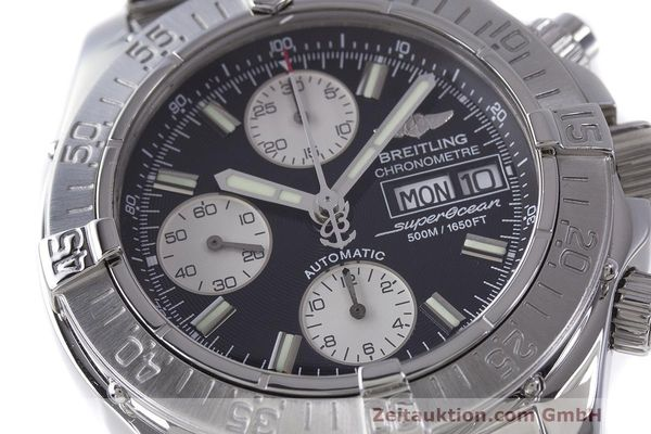 Used luxury watch Breitling Superocean Chronograph chronograph steel automatic Kal. B13 ETA 7750 Ref. A13340  | 162251 02