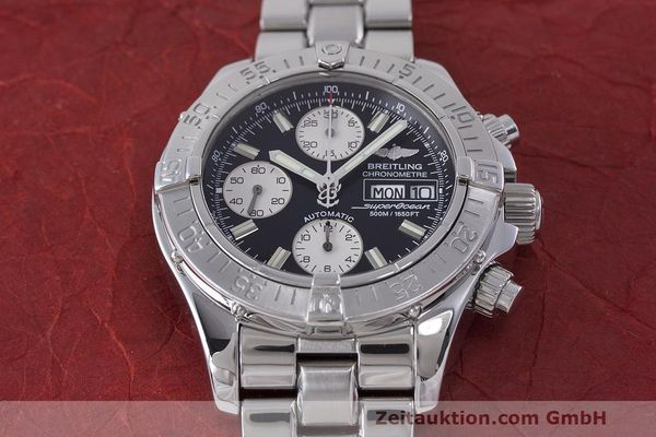 Used luxury watch Breitling Superocean Chronograph chronograph steel automatic Kal. B13 ETA 7750 Ref. A13340  | 162251 18
