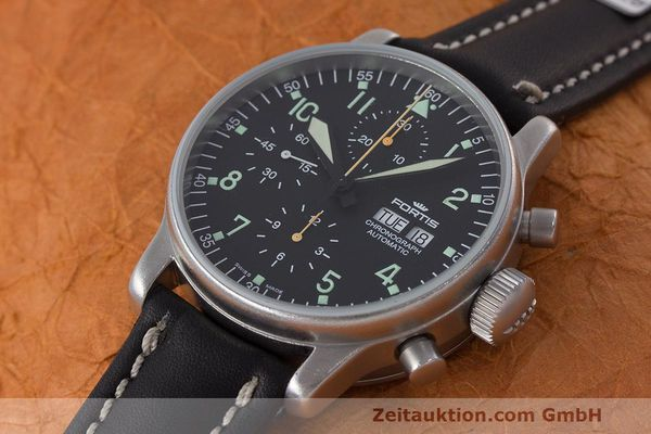 Used luxury watch Fortis Flieger Chronograph chronograph steel automatic Kal. ETA 7750 Ref. 597.10.141  | 162257 01