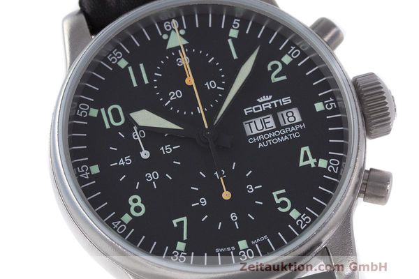 Used luxury watch Fortis Flieger Chronograph chronograph steel automatic Kal. ETA 7750 Ref. 597.10.141  | 162257 02