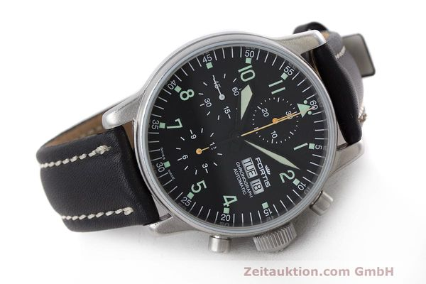 Used luxury watch Fortis Flieger Chronograph chronograph steel automatic Kal. ETA 7750 Ref. 597.10.141  | 162257 03