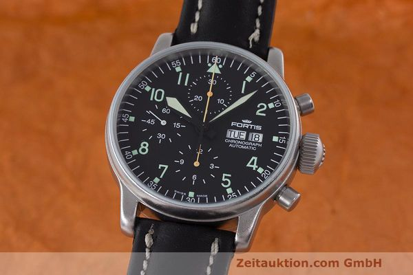 Used luxury watch Fortis Flieger Chronograph chronograph steel automatic Kal. ETA 7750 Ref. 597.10.141  | 162257 04