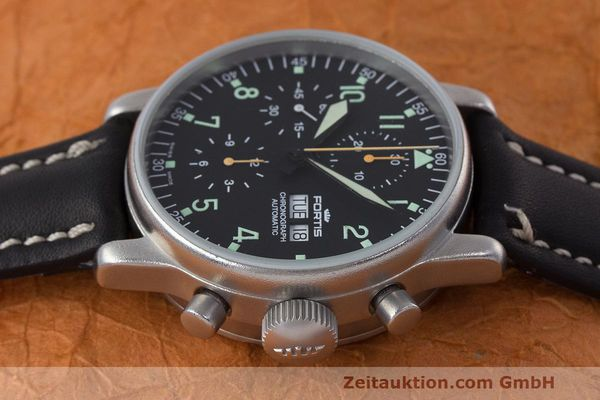 Used luxury watch Fortis Flieger Chronograph chronograph steel automatic Kal. ETA 7750 Ref. 597.10.141  | 162257 05