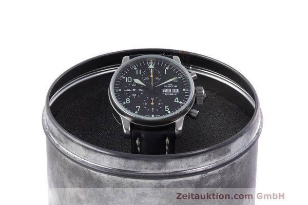 Used luxury watch Fortis Flieger Chronograph chronograph steel automatic Kal. ETA 7750 Ref. 597.10.141  | 162257 07