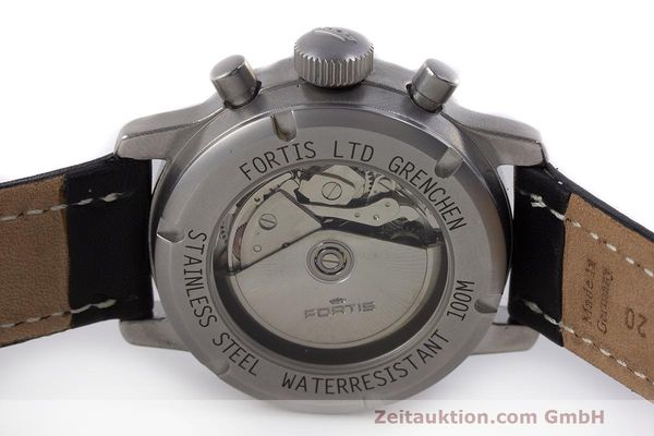 Used luxury watch Fortis Flieger Chronograph chronograph steel automatic Kal. ETA 7750 Ref. 597.10.141  | 162257 09
