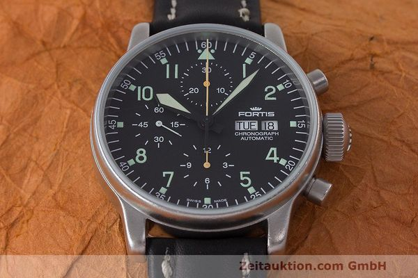Used luxury watch Fortis Flieger Chronograph chronograph steel automatic Kal. ETA 7750 Ref. 597.10.141  | 162257 15
