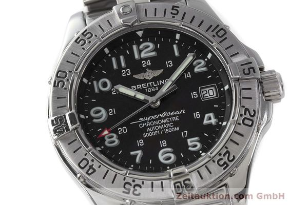 Used luxury watch Breitling Superocean steel automatic Kal. B17 ETA 2824-2 Ref. A17360  | 162260 02