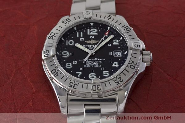Used luxury watch Breitling Superocean steel automatic Kal. B17 ETA 2824-2 Ref. A17360  | 162260 14