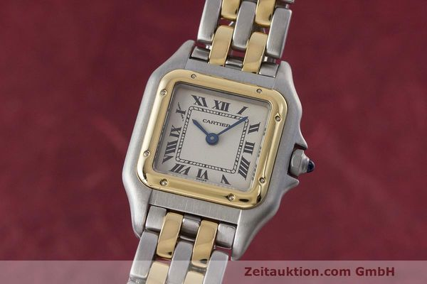 Used luxury watch Cartier Panthere steel / gold quartz Kal. 157  | 162280 04