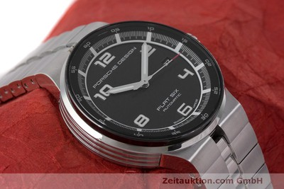 PORSCHE DESIGN FLAT SIX ACIER AUTOMATIQUE KAL. SELLITA SW200 LP: 2250EUR [162282]