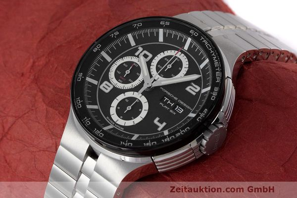 Used luxury watch Porsche Design Flat Six chronograph steel automatic Kal. ETA 7750 Ref. 6360.42  | 162292 01