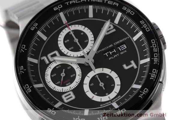 Used luxury watch Porsche Design Flat Six chronograph steel automatic Kal. ETA 7750 Ref. 6360.42  | 162292 02