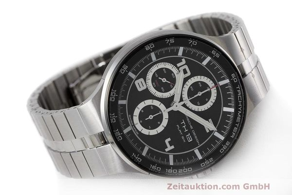 Used luxury watch Porsche Design Flat Six chronograph steel automatic Kal. ETA 7750 Ref. 6360.42  | 162292 03