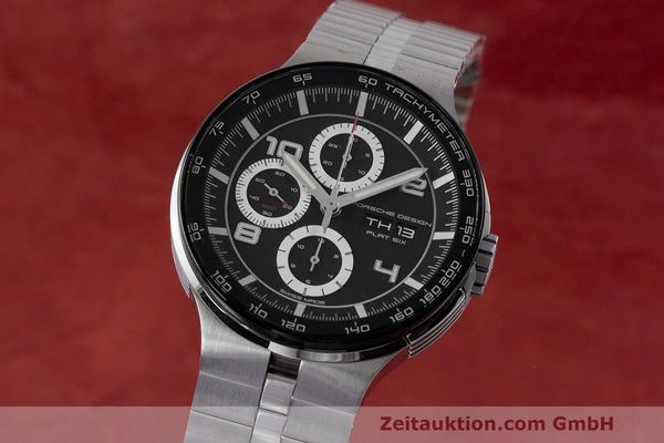 Used luxury watch Porsche Design Flat Six chronograph steel automatic Kal. ETA 7750 Ref. 6360.42  | 162292 04