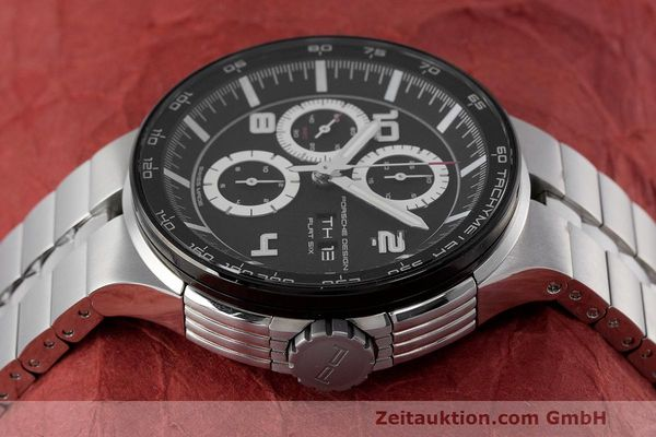 Used luxury watch Porsche Design Flat Six chronograph steel automatic Kal. ETA 7750 Ref. 6360.42  | 162292 05