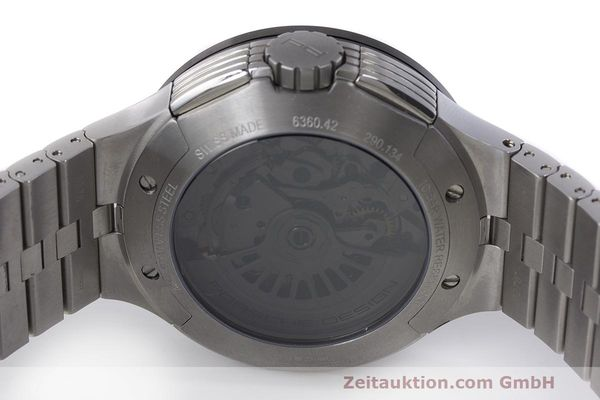 Used luxury watch Porsche Design Flat Six chronograph steel automatic Kal. ETA 7750 Ref. 6360.42  | 162292 09