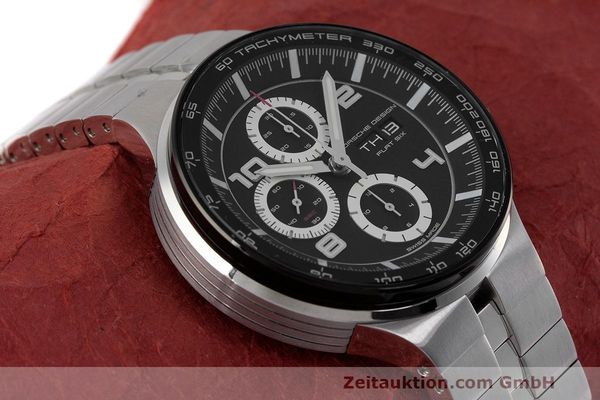 Used luxury watch Porsche Design Flat Six chronograph steel automatic Kal. ETA 7750 Ref. 6360.42  | 162292 15