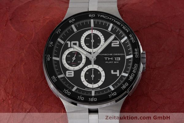 Used luxury watch Porsche Design Flat Six chronograph steel automatic Kal. ETA 7750 Ref. 6360.42  | 162292 16