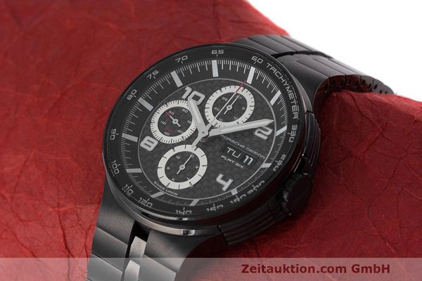 Used luxury watch Porsche Design Flat Six chronograph steel automatic Kal. ETA 7750 Ref. 6360.43  | 162293 01