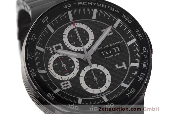 Used luxury watch Porsche Design Flat Six chronograph steel automatic Kal. ETA 7750 Ref. 6360.43  | 162293 02